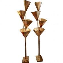 Rare paire de lampadaires