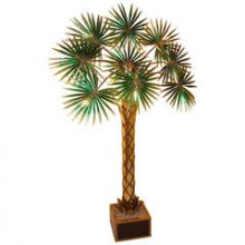 Grand palmier-dattier lumineux, époque 1980