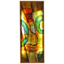 Panneau lumineux en résine signé L Pradat, France vers 1970