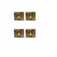 Quatre appliques en laiton doré époque 1970
