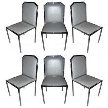 Six 1970s Italian chairs