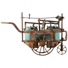Old mobile sulphating machine to treat the vine, Ets Perras, France, 1920-1930