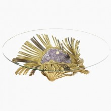 Sea Anemone, sculpture-coffee table by Richard Faure