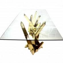 Deux piétements de table dans l'esprit de Duval-Brasseur, époque 1980