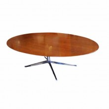 Table ovale de Florence Knoll pour Knoll International circa 1960