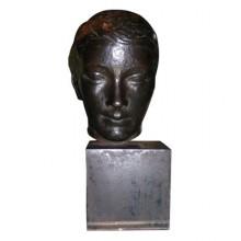Tête de femme dans l'esprit de Despiau, bronze original, France vers 1940