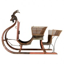 Large troika, sleigh for horse, France, circa 1870